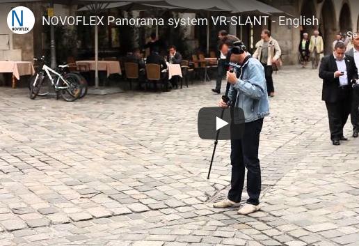NOVOFLEX VR-SLANT video viser hvor raskt du tar et QTVR opptak